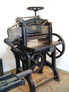 Early 20th Century hand rotary guillotine, aka 'Douglas' by typoretum, via Flickr