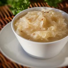 Dušené kysané zelí Mashed Potatoes, Soup, Ethnic Recipes, Decor, Decoration, Mashed Potato Resep, Home Decoration, Decorating, Deco