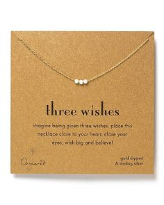 """Dogeared """"Three Wishes"""" Necklace, 16""""   Bloomingdale's"""