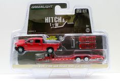 1:64  GREENLIGHT HITCH & TOW SERIES 9 - 2016 RAM 2500 and HEAVY DUTY CAR TRAILER #Greenlight #Dodge
