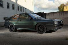 Audi Quattro S1 // Love the color.