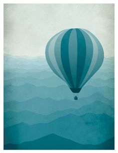 Hot Air Balloon Whimsical Art Children will choose an object to be floating/flying in the air (hot air balloon, bird, balloon, plain..). They will paint a mountain landscape using atmospheric perspective and over lapping. They will learn about proportion, point of view, and modeling .
