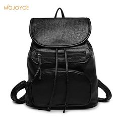 Cassual Korean Backpack Fashion Women Backpacks College Wind School Bags  for Girl Soft PU Leather Ladies 2d87817faeedf