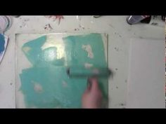 Mixing Paint on A Gelli Plate with Carolyn Dube