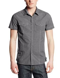 4936594f8756 Kenneth Cole New York Men's Military Mini-Stripe Shirt at Amazon Men's  Clothing store «