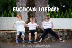 Why kids yoga? EMOTIONAL LITERACY.  Children need an opportunity to associate how they are feeling with an actual word in order to seek help when they need it and have meaningful conversations with adults. The ability to communicate dramatically increases their understanding of their emotions as they learn to manage and self regulate. #namaste #yoga #kidsyoga #whykidsyoga #emotionalliteracy #ei #emotionalintelligence