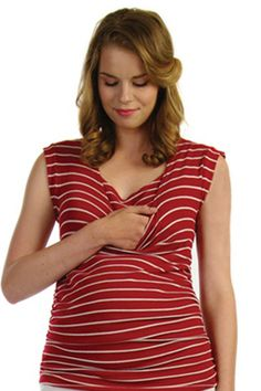 d Drape Back Maternity And Nursing Top by Japanese Weekend | Maternity Clothes  Available at Due Maternity http://www.duematernity.com/