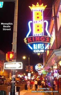 If you ever visit Memphis, be sure to go to BB King's on Beale Street!