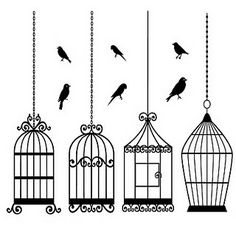 Image detail for -Free 4 Digi Stamps Bird Cages and some birds too. Silhouette Cameo, Paper Art, Paper Crafts, Bird Cages, Copics, Digital Stamps, Cardmaking, Free Printables, Coloring Pages