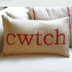 Cwtch Pillow - Cuddle in Welsh - welshgiftshop.com