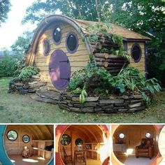 Oh wow! I'd love to build my kids their very own Hobbit Hole! Beats a cubby house any day!
