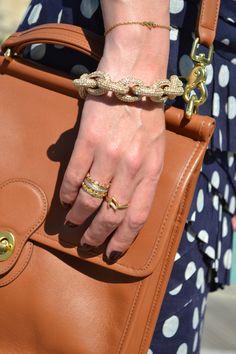 JCrew bracelet and stacked rings