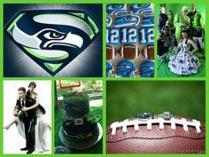 Seattle Seahawks wedding theme
