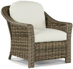 Lane Venture Serena Lounge Chair, Cream/Driftwood, Update the patio or the sunroom with this beautifully woven vinyl lounge chair that brings elegant style to a classic silhouette. Features a comfortable wide arm and a durable, drain-through cushion. Patio Lounge Chairs, Outdoor Wicker Furniture, Outdoor Chairs, Outdoor Seating, Replacement Cushions, Beautiful Home Designs, Chair Cushions, Driftwood, Furniture Usa
