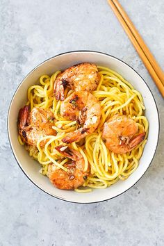 Shrimp Garlic Noodles - the best garlic noodles you'll ever make. Buttery, garlicky noodles served with juicy jumbo shrimp. It's so good, just like the best Asian restaurants. Asian Dinner Recipes, Asian Recipes, Mexican Food Recipes, Vegetarian Recipes, Cooking Recipes, Healthy Recipes, Delicious Recipes, Chinese Recipes, Diabetic Recipes