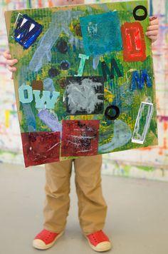 Alphabet Soup Typography Art Project - Kids Art Classes, Camps, Parties and Events - Small Hands Big Art Kids Art Class, Art For Kids, Alphabet Art, Alphabet Soup, Kindergarten Art, Preschool, Easy Art Projects, Kids Artwork, Typography Art