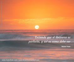 Entiende que el Universo es perfecto y tal como debe ser. // Know that the Universe is perfect and is as it should be.