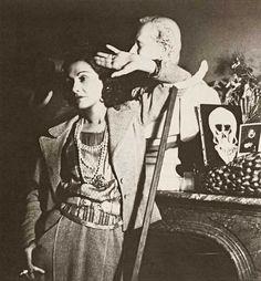 a beautiful portrait of Coco Chanel