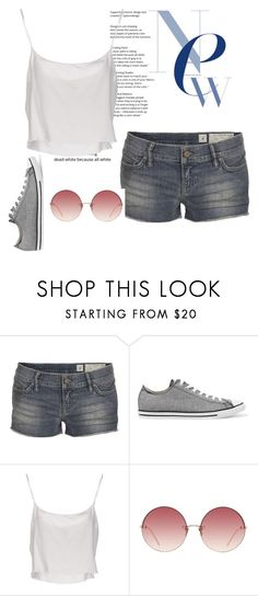 """""""White tank top 2"""" by abbytherose ❤ liked on Polyvore featuring AllSaints, Converse, Jean-Paul Gaultier and Linda Farrow"""