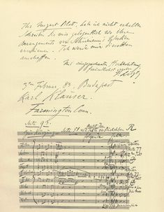 Musical quote in a letter by Franz Liszt, written from Budapest and addressed to a Karl Klaüser in Farmington, Connecticut USA - click to enlarge