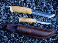 Double Big Hunting Leuku-Puuko Knife WoodsKnife Finland #Woodsknife #FixedBlade