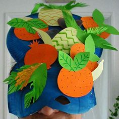masque de rio ananas Planter Pots, Tropical, Activities, Costumes, Carnival Mask, Pineapple, Music, Projects, Dress Up Clothes