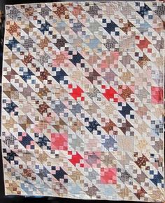 Jacob's Ladder quilt -- use #AccuQuilt dies to cut the shapes to replicate this quilt at www.accuquilt.com!