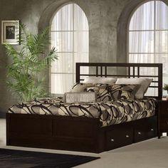 Beds - Tiburon Kona Solid Wood King or Queen Storage Bed w/ Wood Grills & Espresso Finish by Hillsdale Furniture Wood Platform Bed, Furniture, Home Furnishings, Home, Hillsdale Furniture, Storage Bed, Bed, Bedding Sets, Furnishings
