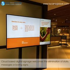 #Cloud based #digitalsignage welcomes the elimination of static #messages or boring #signs. ‪#‎TucanaGlobalTechnology‬ ‪#‎Manufacturer‬ #HongKong