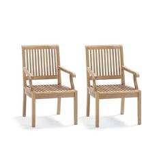 Cassara Set of Two Dining Arm Chairs in Weathered Finish