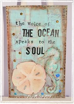 Altered art & art journaling : Art Journal: The Ocean Soul Art Journaling, Altered Art, Art Art, Mixed Media, Ocean, Art Diary, The Ocean, Performing Arts, Sea