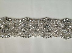 Swarovski Crystal And Pearl Custom Sash 13% off retail