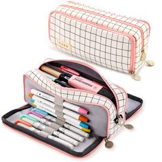 Middle School Supplies, College Supplies, School Pencil Case, Cute Pencil Case, Pencil Bags, Pencil Pouch, Cute Backpacks For School, Ankara Bags, School Suplies