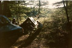 Camping in the woods with friends, something I'm looking forward to the most <3