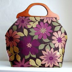 Rischell Crocus Large Craft Project Tote/ Knitting by tanneicasey