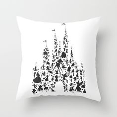 character+castle...++Throw+Pillow+by+Studiomarshallarts+-+$20.00