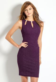 Glitter Ruched Dress