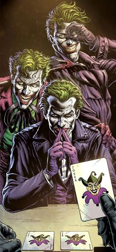 Joker Dc Comics, Joker Comic, Dc Comics Heroes, Joker Art, Comic Art, Aquaman Comics, Three Jokers, Batman Joker Wallpaper, Tattoo Ideas