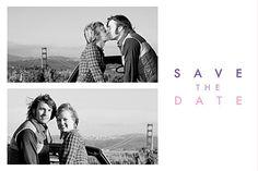Save-the-Date Modern 2 fotos weiß Hochzeitspapeterie  #hochzeit #savethedate #wedding #weddingwednesday #love