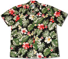 f6c60aa45 Floral Garden Men's Paradise Found / Waimea Casuals Label shirt created in  Royal Blue and Black