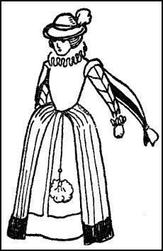 ELIZABETHAN DRESS & LIRIPEPE HAT
