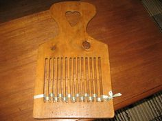 C 1800s Antique Wood Weaving Paddle Loom Heart Hand Carved Early American | eBay