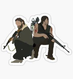 Pegatina Daryl Dixon y Rick Grimes - The Walking Dead Tumblr Stickers, Cute Stickers, Daryl Twd, Daryl Dixon, Walkinh Dead, The Walking Dead, Walking Dead Drawings, Overlays Tumblr, Maze Runner Movie