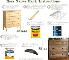 A how-to in as few words as possible!  #diy #tarvahack #ikeahack