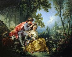 François Boucher - The Four Seasons 01 - Spring (Frick Collection - New York (United States - New York City)) フランソワ・ブーシェ Rococo Painting, Victorian Paintings, French Paintings, Classic Paintings, Oil Paintings, Art Ancien, Spring Painting, Four Seasons, Art Oil