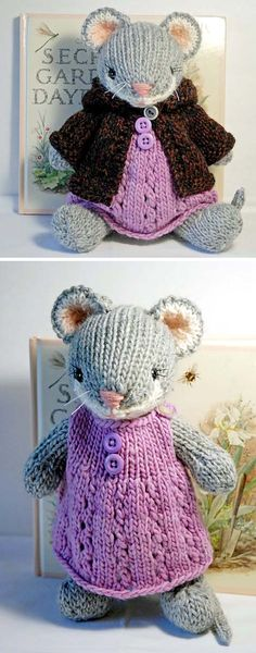 Cute Knitted Mouse – Knitting Pattern – toy making – sewing Knitted Doll Patterns, Animal Knitting Patterns, Crochet Bunny Pattern, Knitted Dolls, Crochet Patterns Amigurumi, Crochet Toys, Knitting Blogs, Free Knitting, Knitting Projects