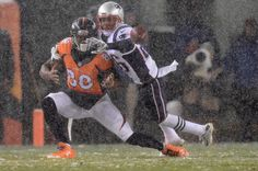 . Logan Ryan (26) of the New England Patriots breaks up a pass intended for Demaryius Thomas (88) of the Denver Broncos in the third quarter. The Broncos played the New England Patriots at Sports Authority Field at Mile High in Denver, CO on November 29, 2015. (Photo by AAron Ontiveroz/The Denver Post)