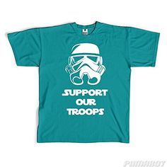 Men's L Teal Support Our Troops cotton crew neck shirt by PumaBot  Price : $19.00 http://www.pumabot.com/Support-Troops-cotton-shirt-PumaBot/dp/B00L9DN82O
