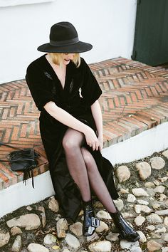 All Black Everything, People Around The World, Parisian, Panama Hat, Pajamas, Velvet, Classy, Elegant, Formal
