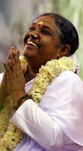 """""""If we penetrate deeply into all aspects and all areas of life, we will find that hidden behind everything is love. We will discover that love is the force, the power and inspiration behind every word and every action. This applies to all people, irrespective of race, caste, creed, sect, religion or of what work people do."""" Amma - Mata Amritanandamayi Devi❤️❤️"""